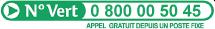 Numéro Vert : 0800 00 50 45